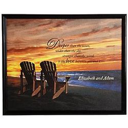 Large Personalized Framed Beach Chair Canvas