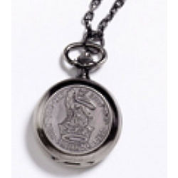 Shilling Watch Pendant Necklace