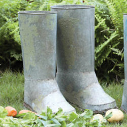 Pair of Boots Steel Planter
