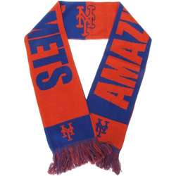 Royal Blue and Orange New York Mets Slogan Scarf