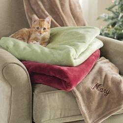 Micro Velour Personalized Throw Blanket
