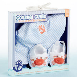 Baby's Coastal Cutie Sun Hat and Spa Booties