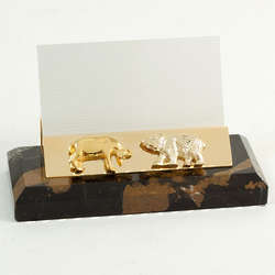 Stock Market Marble Business Card Holder