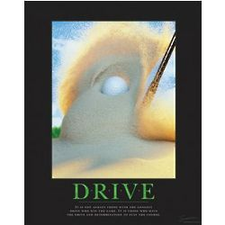 Drive Golf Motivational Poster