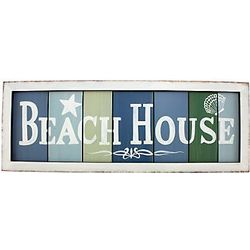 Beach House Multi-Colored Plaque