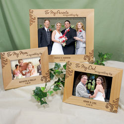 Parents of the Couple Engraved Wedding Frame