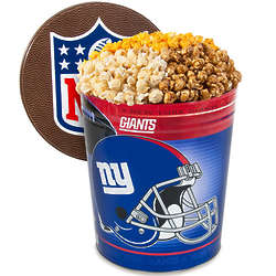 3 Gallons of Popcorn in New York Giants Tin