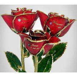 "11"" Family Birthstone Roses"