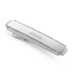 Crystal Tie Bar with Men's Valet Box