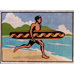 Surfer Dude Bookmark Greeting Card