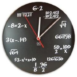 """Pop Quiz"" Math Wall Clock"