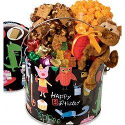 Birthday Animal Fun Pail of Popcorn and Treats