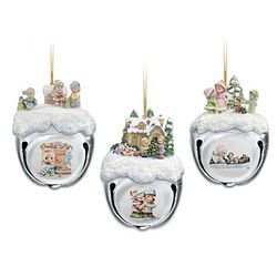 Precious Moments Christmas Sleigh Bells Ornaments