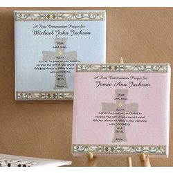 First Communion Prayer Personalized Canvas Art