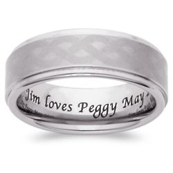 Men's Engraved Tungsten Polished and Satin Celtic Band