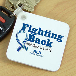 Fighting Back ALS Awareness Key Chain