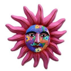 Rose Sun Ceramic Wall Decor