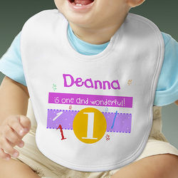 Personalized What's Your Number Infant Bib