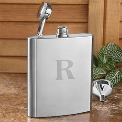 Personalized Initial Stainless Steel Pocket Flask