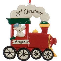 Personalized Choo Choo Train Christmas Ornament
