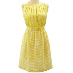 Yellow Gingham Vintage-Inspired Apron