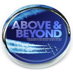 Above and Beyond Jets Positive Outlook Paperweight
