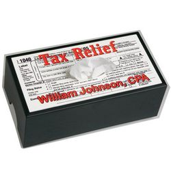 Tax Relief Personalized Tissue Box