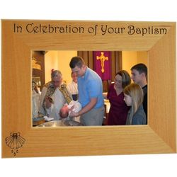 Baptism Personalized 4x6 Wood Frame