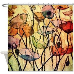 Colorful Poppies Shower Curtain