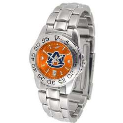 Auburn Tigers Ladies AnoChrome Steel Band Sports Watch