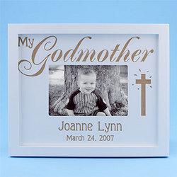 Godmother/Godfather/Godchild Wooden Frame