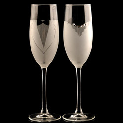 Bride and Groom Champagne Flute Set