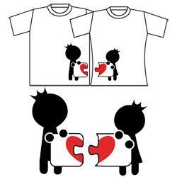 Complete My Heart His & Hers Matching Couple Shirts