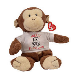 "Personalized Arrr...I'm a Pirate ""Dangles"" Monkey"