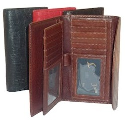 Alligator Leather Checkbook Wallet