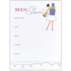 """Gifts"" Bridal Shower Invitations"