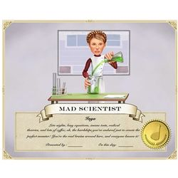 Your Photo in a Experiment Class Certificate