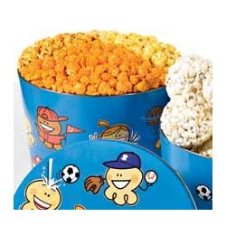 Sports PalsThree Flavor Popcorn Tin