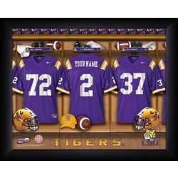 Personalized LSU Tigers Locker Room Print