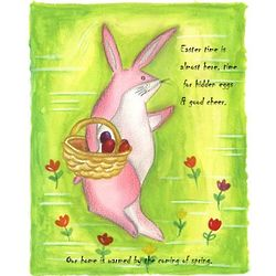 Easter Bunny Personalized Print