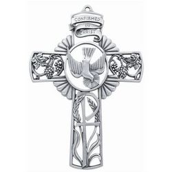 Confirmed in Christ Pewter Cross