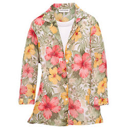 Women's Floral Crinkle Twinset