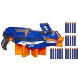 N-Strike Elite Hail-Fire Blaster Toy Gun