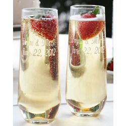 Stemless Personalized Champagne Flutes