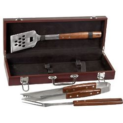 Personalized Rosewood BBQ Set