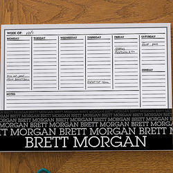 Optic Name Personalized Small Calendar Desk Pad