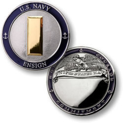Engraved Navy Pocket Coins By Rank