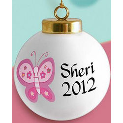 Personalized Butterfly Ornament