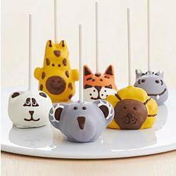 6 Handmade Zoo Animals Cake Pops