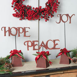 Hope, Peace & Joy Wood Tabletoppers